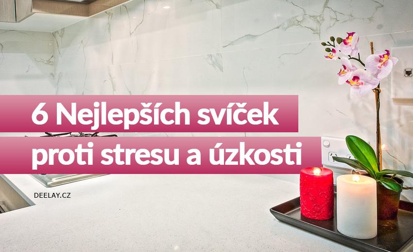 vonné svíčky proti stresu